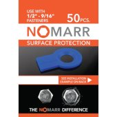 NoMarr Surface Protectors, Pack of 50 (1/2'') in Blue, 1-7/8'' W x 1-1/2'' D x 1/8'' H
