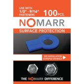 NoMarr Surface Protectors, Pack of 100 (1/2'') in Blue, 1-7/8'' W x 1-1/2'' D x 1/8'' H