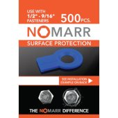 NoMarr Surface Protectors, Pack of 500 (1/2'') in Blue, 1-7/8'' W x 1-1/2'' D x 1/8'' H