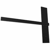 Stud Mounted Floating Shelf Bracket, Steel, Flat Black, 18''W x 14''D x 3/4''H