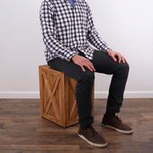 Kilderkin Teak Square Wood Side Table, 15'' W x 15'' D x 20'' H