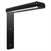 Freedom Eco-Lucent Hidden Countertop Bracket System in Black, 2'' W x 8'' D x 8'' H