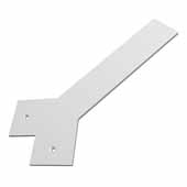 Liberty Hidden Counter Corner Support, Flat White, 3''W x 12''D, 1/4'' Thickness