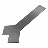 Liberty Hidden Counter Corner Support, Steel, 3''W x 12''D, 1/4'' Thickness