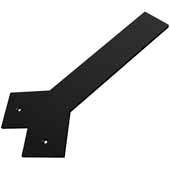 Liberty Hidden Counter Corner Support, Flat Black, 3''W x 12''D, 1/4'' Thickness