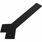 Liberty Hidden Counter Corner Support, Flat Black, 3''W x 14''D, 3/8'' Thickness