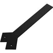 Liberty Hidden Counter Corner Support, Flat Black, 3''W x 17''D, 3/8'' Thickness
