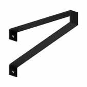 Savona Commercial Bench Bracket in Black, 2'' W x 16'' D x 9'' H