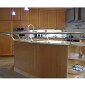 Foremont Counter Mounted Bracket for Floating Countertop, 6'' Height in Multiple Finishes