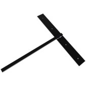 Hammam Lavatory Hidden Support in Black, 3'' W x 20'' D x 24'' H