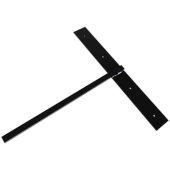 Hammam Lavatory Hidden Support in Black, 3'' W x 20'' D x 24'' H