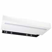 LED Floating Shelf Medium Density Fiberboard In White, 24''W x 10''D x 3''H