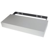 Floating Shelf Kit in Satin Silver, 24'' W x 10'' D x 3'' H
