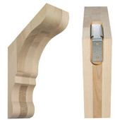 Lexington Overhang Wood Corbel Mounting System, 3'' W x 10'' D x10'' H