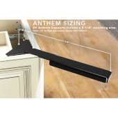 Anthem 14'' Eco-Lucent Corner Support in Black, 6-1/2'' W x 14'' D x 2'' H