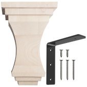 Geneva Wood Corbel with Rib Mount in Maple, 5'' W x 8'' D x 12'' H