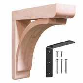 Cumberland Reinforced Low Profile Wood Corbel in Unfinished Maple, 3'' W x 12'' D x 12'' H