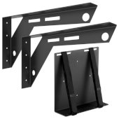 Workstation Mount 3Support System Flat Black, 2'' W x 18'' D x 10'' H