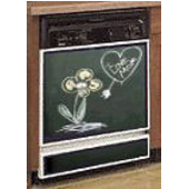 Dishwasher Full Kit w/ Painted Trim, Chalkboard Panel, available in Grey or Green (Painted Trim are available in: Back, White, Almond, Biscuit, Brushed Aluminum-Stainless look)