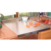 20''W Deluxe Stainless Steel Cutting Board with Utensil Holder