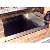 Fireplace Ashtray, 23'' W x 22'' D x 2'' H, Brushed Stainless Steel