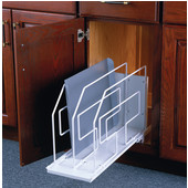 White Roll-Out Tray Divider, 6''W x 22''D x 19-1/2''H