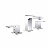 Sesia Widespread Mount Bathroom Vanity Faucet in Chrome, Dimensions: 10'' W x 7'' D x 11'' H