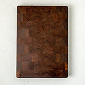 Minnehaha End Grain Cutting Board, 16'' W x 14'' D x 1.5'' H, Walnut