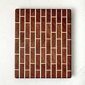 Nicollet Ave End Grain Cutting Board, 20'' W x 14'' D x 1.5'' H, Brickwork Brazilian Cherry