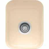 Fireclay Undermount Sink, 14-9/16''W x 17-1/8''D x 7-7/8'' H, Biscuit