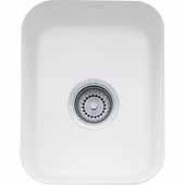 Fireclay Undermount Sink, 14-9/16''W x 17-1/8''D x 7-7/8'' H, White