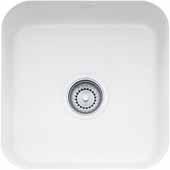 Fireclay Undermount Sink, 17-1/2''W x 17-1/2''D x 7-7/8'' H, White