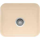 Fireclay Undermount Sink, Biscuit, 21-7/16''W x 17-5/16''D x 7-7/8''H