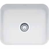Fireclay Undermount Sink, White, 21-7/16''W x 17-5/16''D x 7-7/8''H