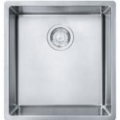 Cube Single Bowl Undermount Kitchen Sink, Stainless Steel, 18 Gauge, 16-1/2''W x 17-3/4''D x 9''H