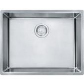 Cube Single Bowl Undermount Kitchen Sink, Stainless Steel, 18 Gauge, 22-3/4''W x 17-3/4''D x 9''H