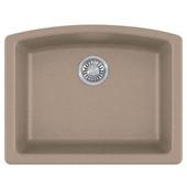 Ellipse Single Bowl Undermount Kitchen Sink, Granite, Fragranite Oyster, 25''W x 19-5/8''D x 9''H