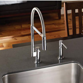 Manhattan Flex Pull Down Dual Spray Kitchen Faucet, Polished Chrome