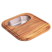 EuroPro Solid Wood Cutting Board with Polished Stainless Steel Colander