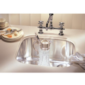 Euro Pro Stainless Steel Single Bowl Undermount Sink, 16-7/8''W x 16-11/16''D x 7-3/8''H