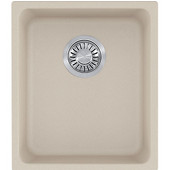 Kubus Single Bowl Undermount Kitchen Sink, Granite, Fragranite Champagne, 15''W x 17-3/8''D x 7-7/8''H