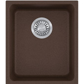 Kubus Single Bowl Undermount Kitchen Sink, Granite, Fragranite Mocha, 15''W x 17-3/8''D x 7-7/8''H