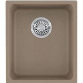 Kubus Single Bowl Undermount Kitchen Sink, Granite, Fragranite Oyster, 15''W x 17-3/8''D x 7-7/8''H