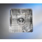Kubus Stainless Steel Single Bowl Undermount Sink, 15''W x 17-3/8'' D x 6-11/16''H