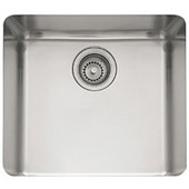 Kubus Stainless Steel Single Bowl Undermount Sink, 19-1/4''W x 17-3/8''D