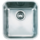 Largo Single Bowl Undermount Sink, 18 Gauge, Stainless Steel, 16-3/8''W x 18-1/2'' D