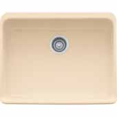 Fireclay Apron Front Undermount or Drop-On Sink, Biscuit, 23-5/8''W x 19-3/4''D x 7-7/8''H