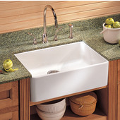 Fireclay Apron Front Undermount or Drop-On Sink, White