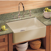 Fireclay Apron Front Undermount or Drop-On Sink, Biscuit