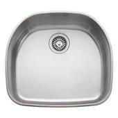 Prestige Stainless Steel Single Bowl Undermount Sink, 9-1/16'' Height